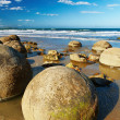 Moeraki Boulders, New Zealand - Foto Stock