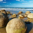 Moeraki Boulders, New Zealand - Stock Photo