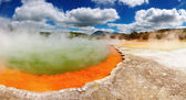 Champagne Pool, hot thermal spring — Stock Photo