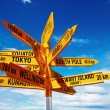 Signpost in New Zealand — Stock Photo