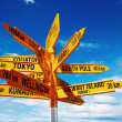 Signpost in New Zealand - Stock Photo