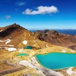 Emerald Lakes, New Zealand — Stock Photo