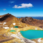 smaragdgröna sjöar, Nya Zeeland — Stockfoto