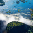 Zambezi river and Victoria Falls - Stock Photo