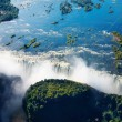 Zambezi river and Victoria Falls — Stock Photo