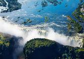 Zambezi river and Victoria Falls — Stock Photo
