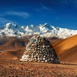 Himalayan panorama - Stock Photo