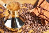 Turkish coffee pot — Stock Photo