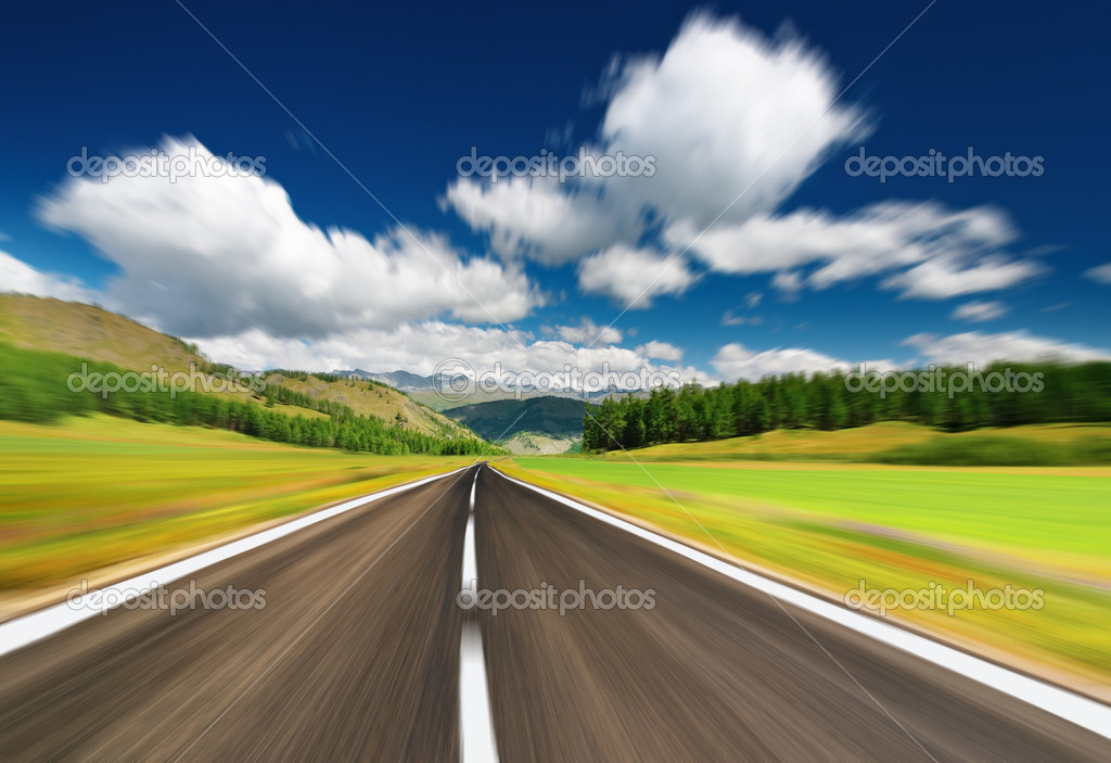 Empty road with motion blur — Stock Photo #1715734