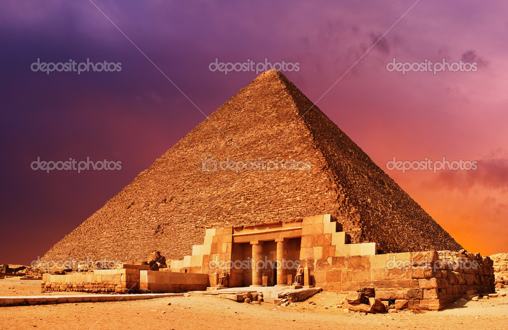 Ancient egyptian pyramid at sunset — Stock Photo #1719851