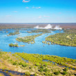 Zambezi river and Victoria Falls - Foto de Stock  
