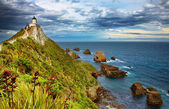 Nugget Point Lighthouse, New Zealand — Stock Photo