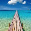 Wooden pier, Kood island, Thailand — Stock Photo #2401400