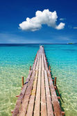 Wooden pier, Kood island, Thailand — Stock Photo
