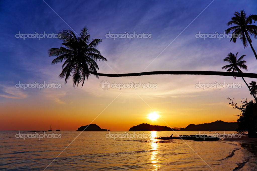 Tropical beach, Mak island, Thailand — Stock Photo #2401492