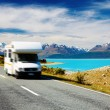 Traveling by motorhome — Stockfoto