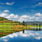 Bunyonyi Lake in Uganda — Stock Photo