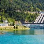 Hydroelectric dam, New Zealand — Stock Photo