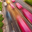 Cars with motion blur - Stock Photo