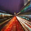 Night traffic in the city — Foto Stock