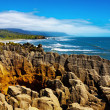 Stock Photo: Punakaiki Pancake Rocks, New Zealand