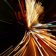 Car lights in motion blur - 图库照片