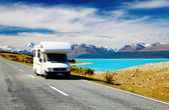 Traveling by motorhome — Stock Photo
