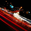 Night traffic — Stockfoto