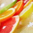 Citrus fruits background - Stock Photo