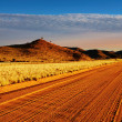 Foto Stock: Road in Kalahari Desert