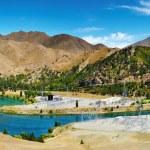 Lake Benmore hydroelectric dam — Stock Photo