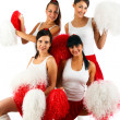 Stock Photo: Cheerleader squad