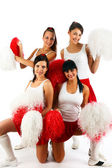 Cheerleader squad — Stock Photo