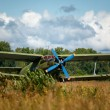 Old biplane - Stock Photo