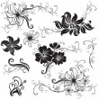 Royalty-Free Stock Vector Image: Set of black floral design elements