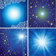 Vector set of shining backgrounds - Stock Vector