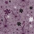 wektor wzór kwiatowy twirled — Wektor stockowy