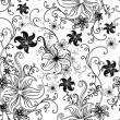 Vector Seamless floral twirled pattern - Vektorgrafik