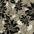 Vector Seamless floral twirled pattern — Vector de stock