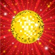Stock Vector: Background with disco-ball