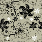 Vector Seamless floral twirled pattern — Stock Vector