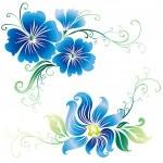 Beautiful vintage vector ornate flowers — Stock Vector
