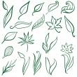 Set of free hand design elements — Stock Vector #1601314