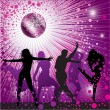 Background with , disco-ball - Stockvektor