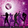 Background with , disco-ball - Stock Vector