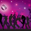 Royalty-Free Stock Векторное изображение: Vector background with dancing
