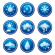 Weather icons — Stock Vector #1602940