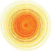 Vector illustration of shining sun — Stock Vector