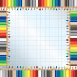 Color pencils frame — Stock Vector