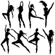 Modern ballet dancers - Stock Vector